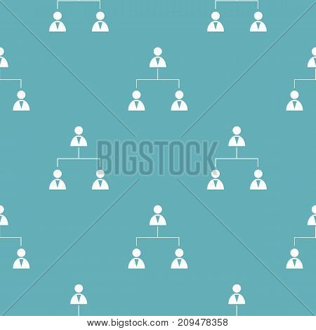 Business structure pattern seamless blue. Simple illustration of  vector pattern seamless geometric repeat background