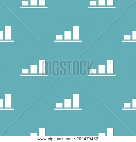 Chart pattern seamless blue. Simple illustration of  vector pattern seamless geometric repeat background