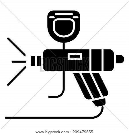 painting service - car icon, illustration, vector sign on isolated background