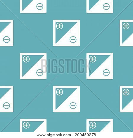 Accumulator pattern seamless blue. Simple illustration of  vector pattern seamless geometric repeat background