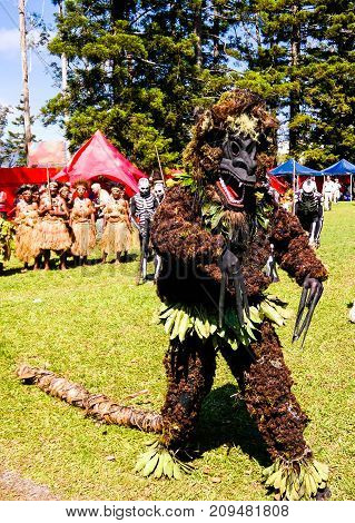 Participants of the Mount Hagen local tribe festival -17-08-2014 Papua new Guinea