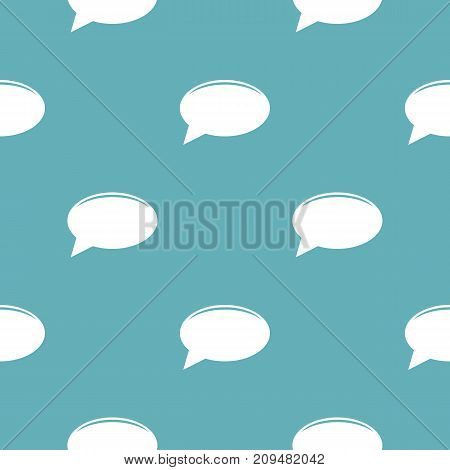 Chat pattern seamless blue. Simple illustration of  vector pattern seamless geometric repeat background