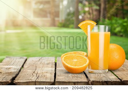 Glass orange delicious juice natural food eating healthy color