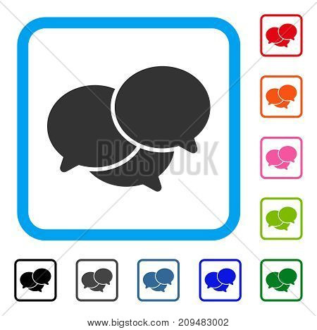 Webinar icon. Flat gray iconic symbol in a light blue rounded rectangle. Black, gray, green, blue, red, orange color variants of Webinar vector. Designed for web and app user interface.