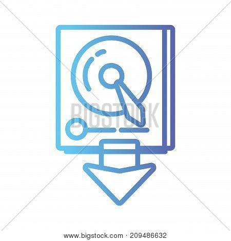 line data hdd system server technology vector illustration