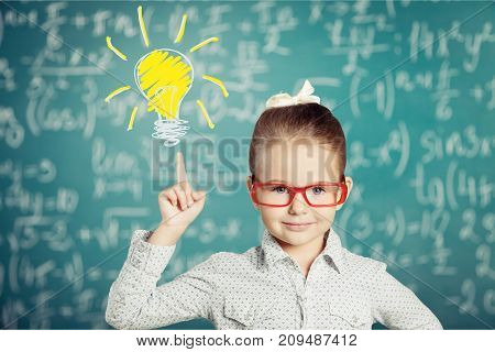 Girl idea background happy people light child