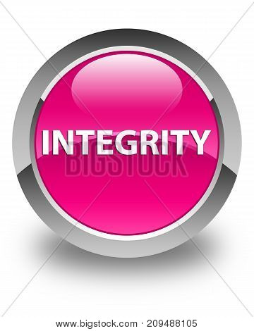 Integrity Glossy Pink Round Button