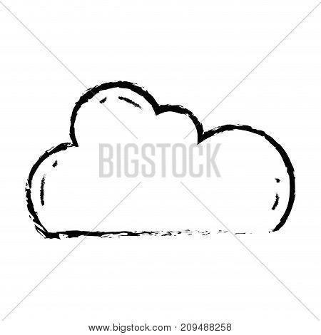 figure cloud data network server connection vector illustration
