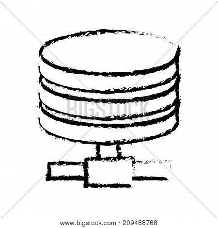 figure hard disk technology data storage vector illustration