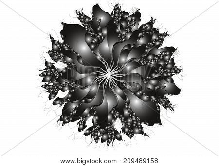 Abstract Flower. Gradient Design Element On White Background.