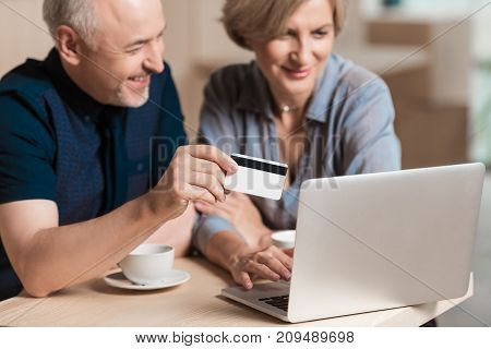 Couple Buying Something Online