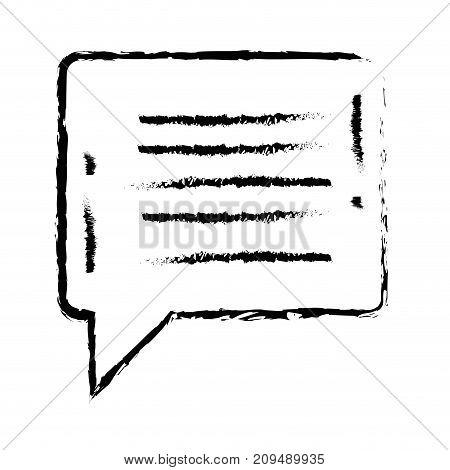 figure chat bubble notes text message vector illustration