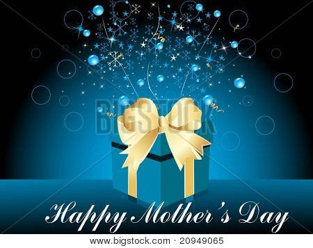 abstract stylish pattern background with gift for mother day