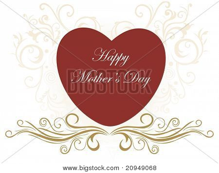 creative background with big heart for mother day