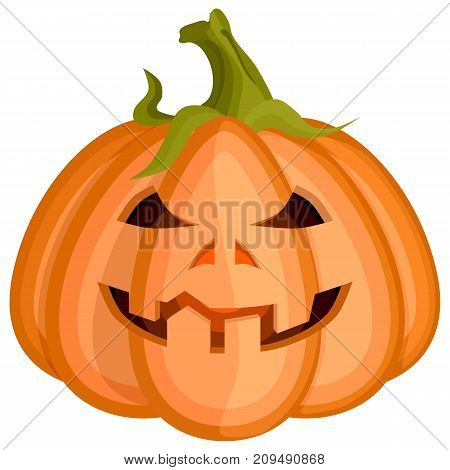 evil cunning smiling redhead pumpkin for halloween