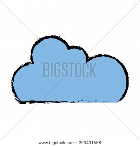 color cloud data network server connection vector illustration