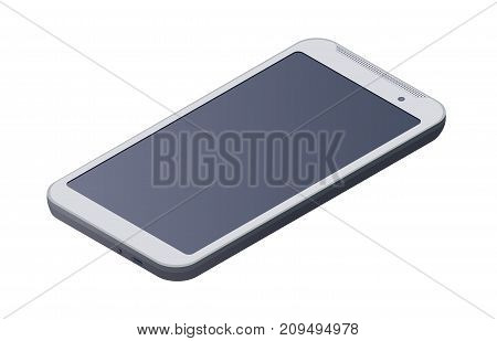 Tablet PC, isometric pad computer, isolated on white background. Vector Illustration.