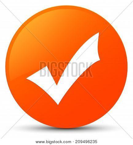 Validation Icon Orange Round Button