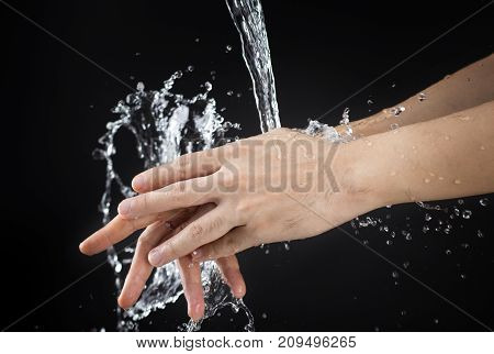 wash hand cleaning dirt and bacteria health