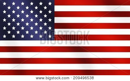 flag illustration - the wavy american flag
