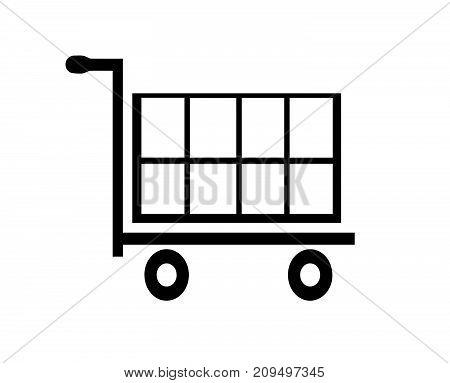 shopping cart icon vector - shopping basket