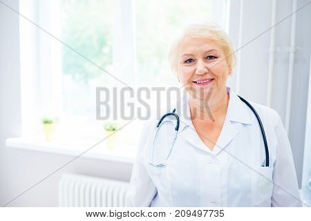 Kid on appointment with a doctor at a clinic