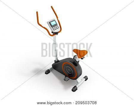 A Modern Exercise Bike For Home Weight Loss Electronic Counting Of Long Trip Prospect Front 3D Rende