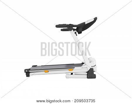 Contemporary Sports Jogging Track White With Right Side 3D Render On White Background No Shadow