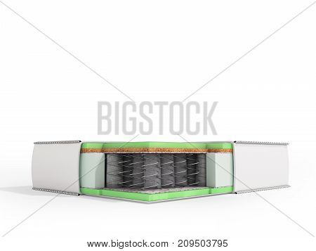 Modern Orthopedic Pillow White In A Section 3D Render On A White Background
