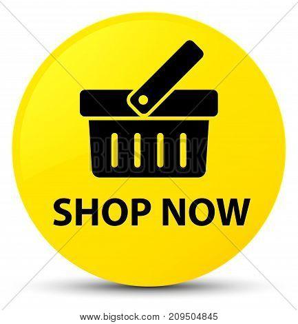 Shop Now Yellow Round Button
