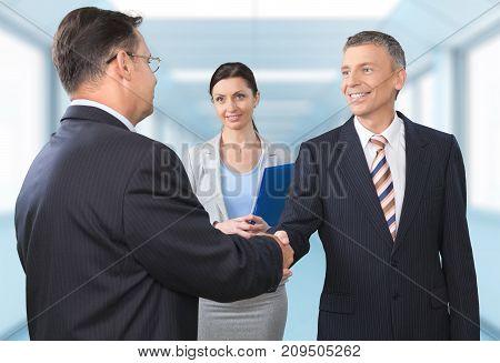 Business people hands shake handshake background greeting