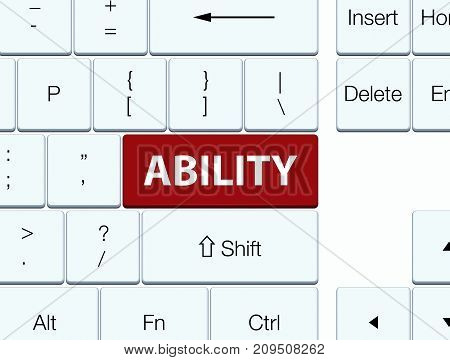 Ability Brown Keyboard Button