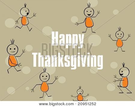vector illustration for happy thankgiving day