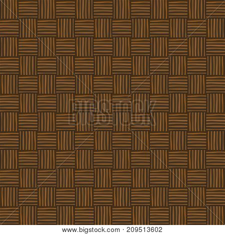 Wicker seamless pattern. Abstract decorative wooden textured basket weaving background.