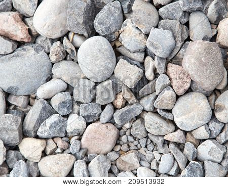 background of stone rubble . Photo of an abstract texture