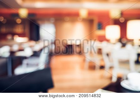 Blurred Background,restaurant Blur Background With Bokeh Light