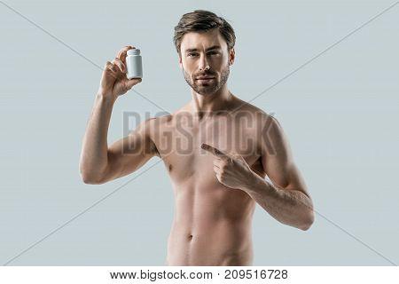 Man Presenting Vitamins