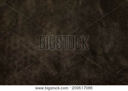 Close Up At Dark Brown Suede Leather Texture Background