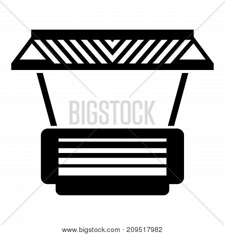 Modern stall icon. Simple illustration of modern stall vector icon for web