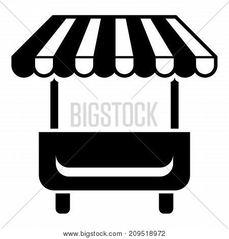 Local stall icon. Simple illustration of local stall vector icon for web