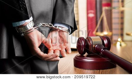 Man back handcuffs image background metal person