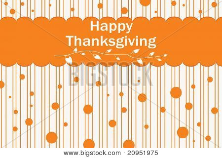 abstract happy thankgiving day background with dots
