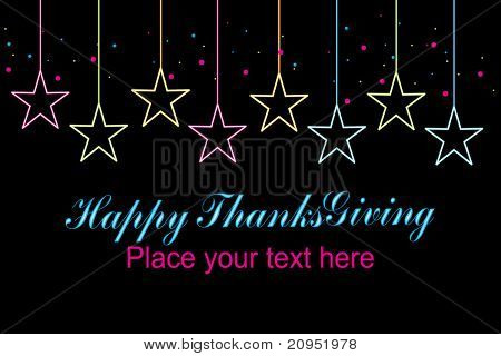 abstract black background with star for happy thankgiving day