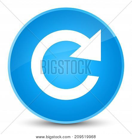 Reply Rotate Icon Elegant Cyan Blue Round Button