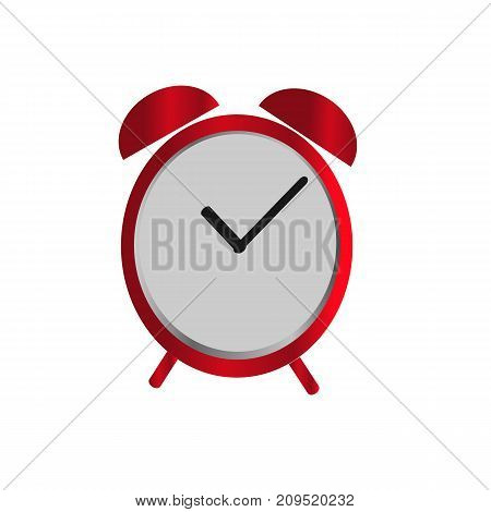 alarm Clock icon in red color isolated background. Vector design element