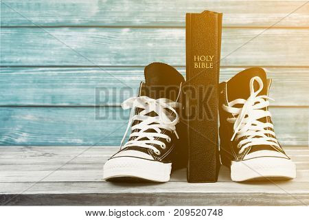 New pair sneakers sport background object nobody