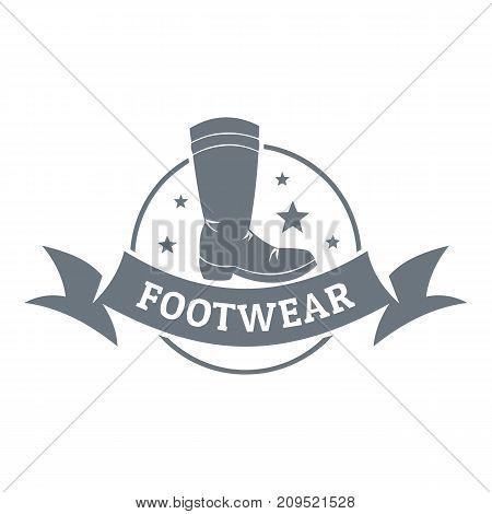 Footwear logo. Vintage illustration of footwear vector logo for web