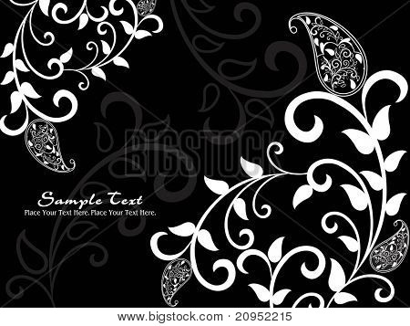 poster of abstract black background with creative artwork, illustration