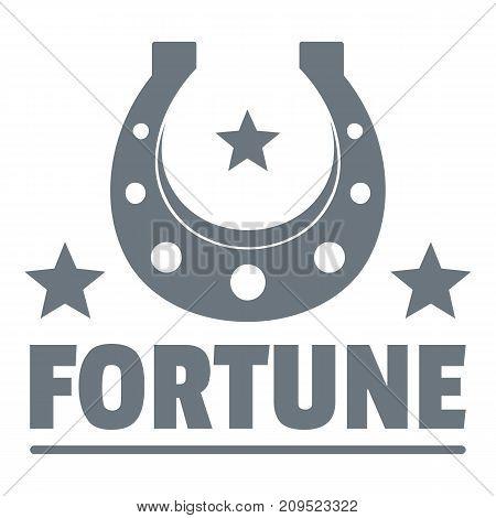 Fortune logo. Vintage illustration of fortune vector logo for web