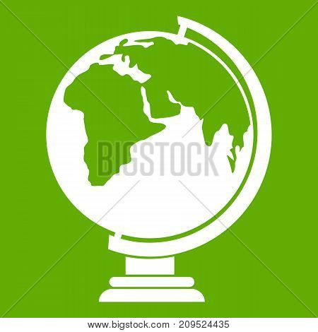 Closed book icon white isolated on green background. Vector illustration
